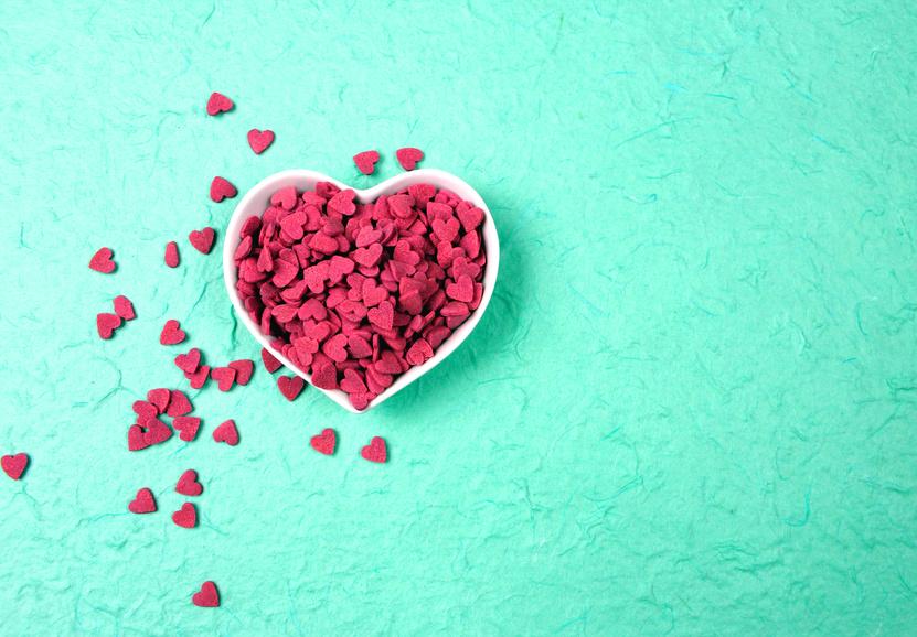 Herzen pink